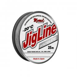 Плетеный шнур JigLine Winter 0,16 мм, 12 кг, 25 м, зеленый